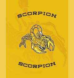 Scorpion yellow vector