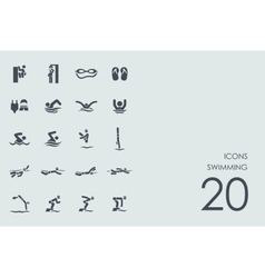 Set of swimming icons vector