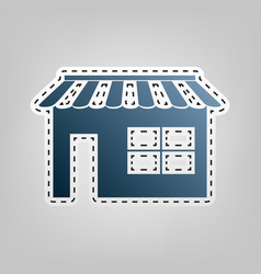 Store sign blue icon with vector