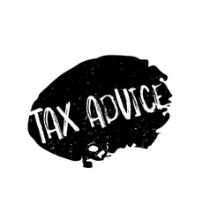 Tax advice rubber stamp vector