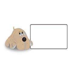The dog tag on a white background vector image