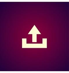 Upload icon - vector image
