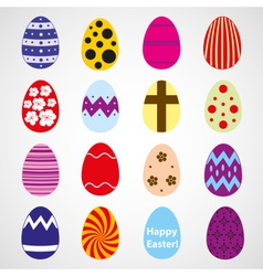 various color Easter eggs design collection eps10 vector image vector image