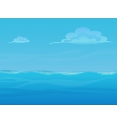 Water ocean sea landscape with sky and clouds vector image vector image