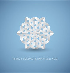 White paper christmas snowflake vector