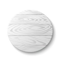 Wooden circle emblem vector