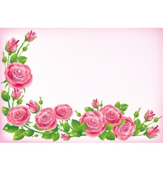 Frame of roses vector image
