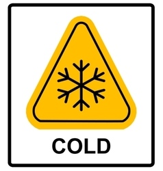Cold warning sign  snow warning - triangular sign vector