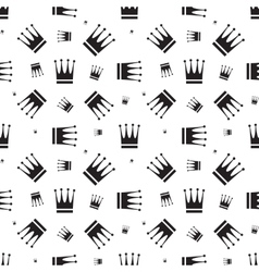 Crown icon seamless pattern vector