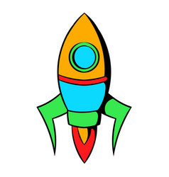 rocket icon cartoon vector image
