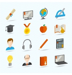 E-learning flat icons vector