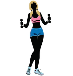 Silhouette fitness - vector