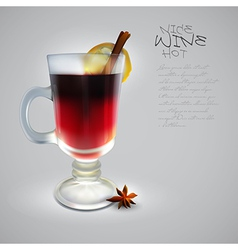 Hot wine design vector