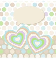 Polka dot background pattern Heart on dot vector image