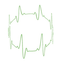 Heartbeat circle vector
