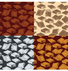 seamless patterns with books vector image