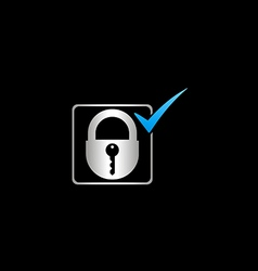 Lock save protection logo vector