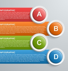 Abstract infographic design template vector