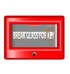 Break glass for key vector