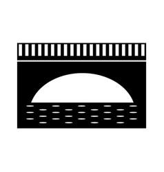 Bridge isolated icon vector