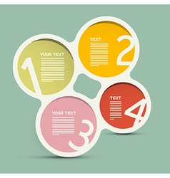 Circle paper infographics layout - template on vector