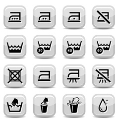 cleaning and washing icons vector image vector image