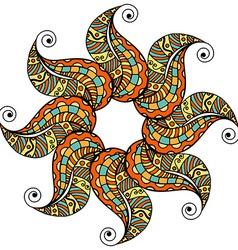 Colored mandala pattern vector