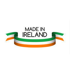 Colored ribbon with the irish tricolor vector