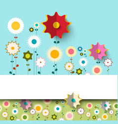 Colorful flat flowers background vector