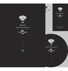design elements for a restaurant vector image vector image