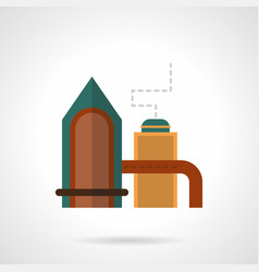 Distilling plant flat color icon vector