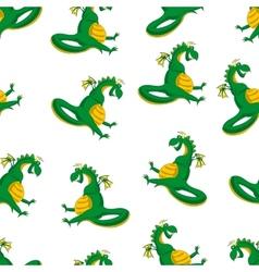 Dragon seamless pattern vector image