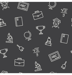 Education icons pattern vector