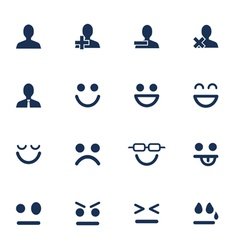 Emotions icons vector