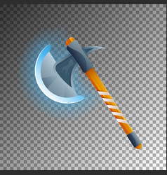 Fantasy medieval hatchet isolated game element vector