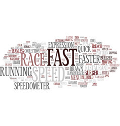 Fast word cloud concept vector