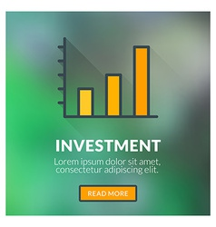 Flat design concept for investment with blu vector