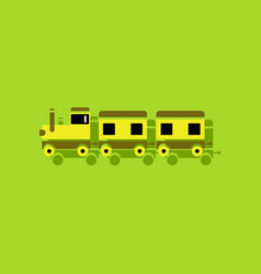 Flat icon design collection babies train in vector