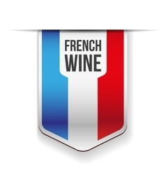 French wine ribbon vector