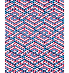 Geometric seamless pattern with transparent impose vector