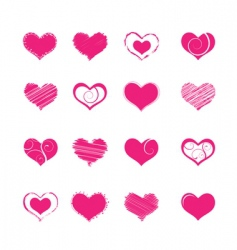heart shapes vector image vector image