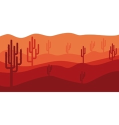 Isolated desert landscape design vector