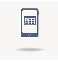 Mobile Phone With Schedule Symbol On The Screen vector image vector image