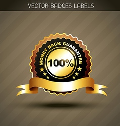 Money back guarantee label vector