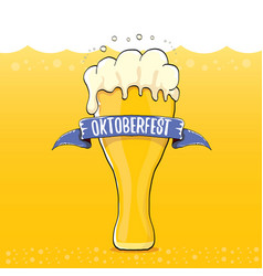 Oktoberfest label on orange beer vector