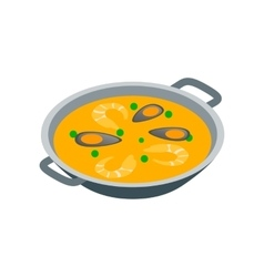 Paella icon isometric 3d style vector