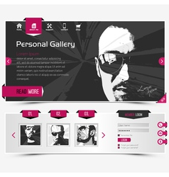 personal gallery vector image