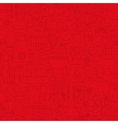 Red grill menu line tile pattern vector
