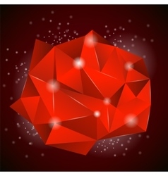 Red Polygonal Stone vector image vector image