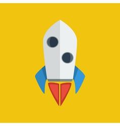 Rocket launch icon vector image